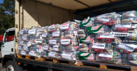 Em mais um ato solidário, Taurus doa 1,1 mil cestas básicas para entidades assistenciais